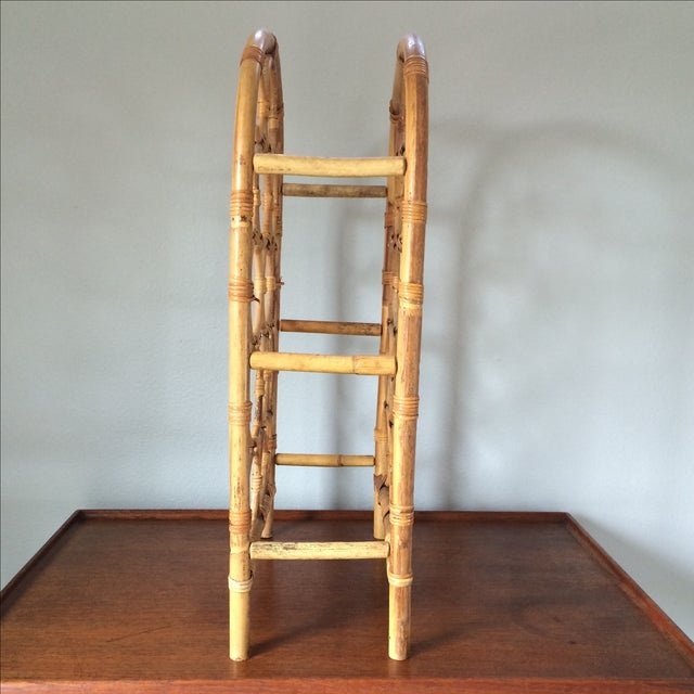 Vintage Bamboo Wine Rack - Image 3 of 11