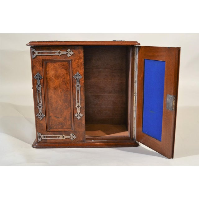 English Antique English Burled Walnut Box Circa 1860 For Sale - Image 3 of 5