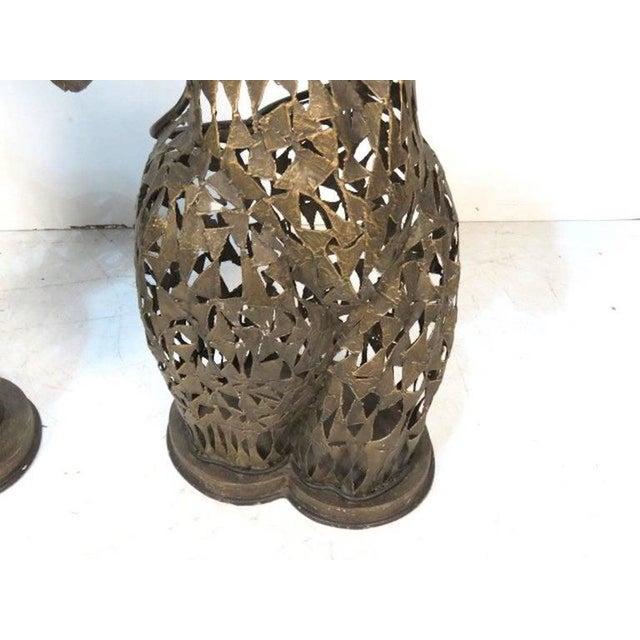 Brutalist Metal Torso Sculptures - A Pair - Image 3 of 4