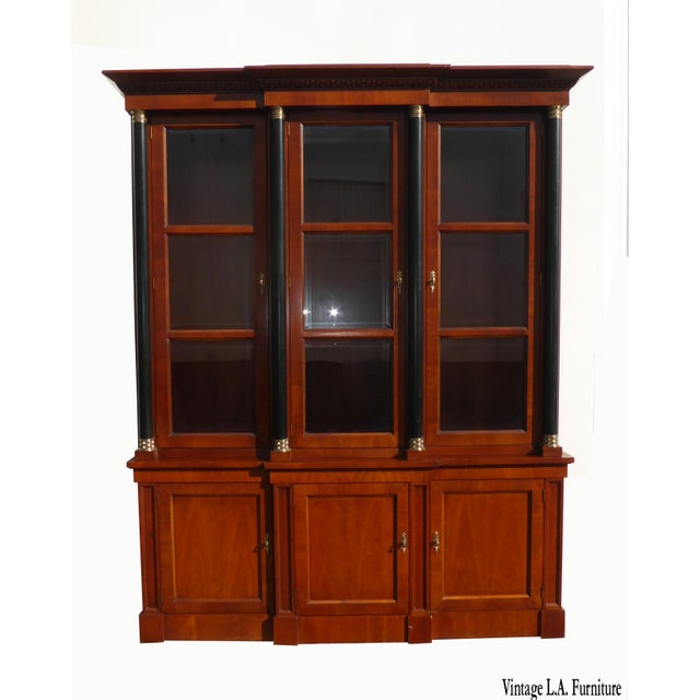 Federal Vintage Baker Furniture Federal Style Solid Wood China Hutch Cabinet For Sale - Image 3 of 11