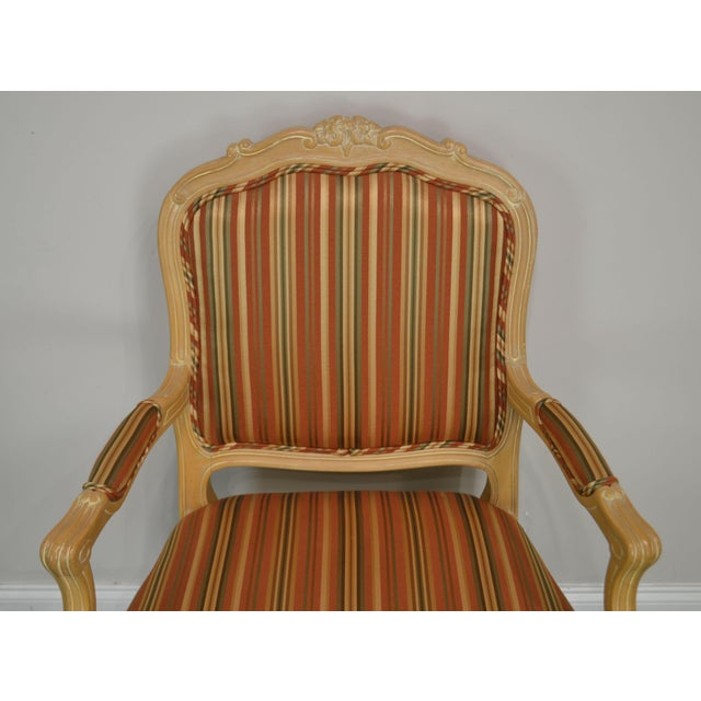 Wood Ethan Allen Home Collection Louis XV Style Armchair Made in Italy For Sale - Image 7 of 13
