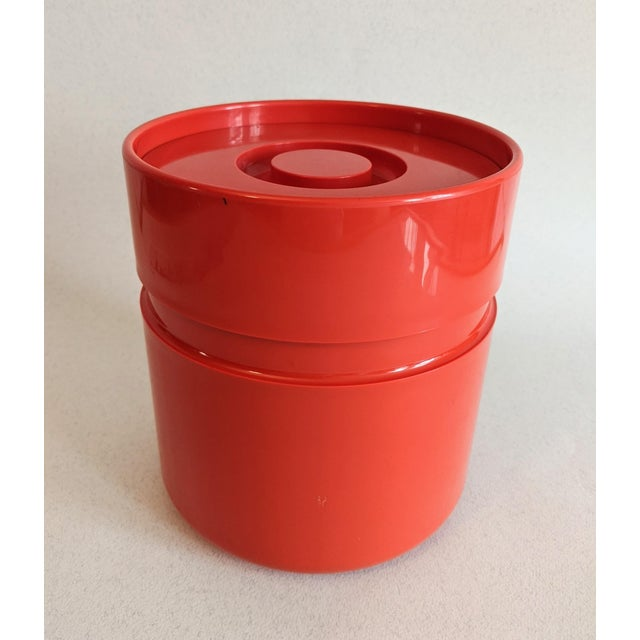 Vintage Orange Heller Ice Bucket by Sergio Asti For Sale - Image 9 of 9