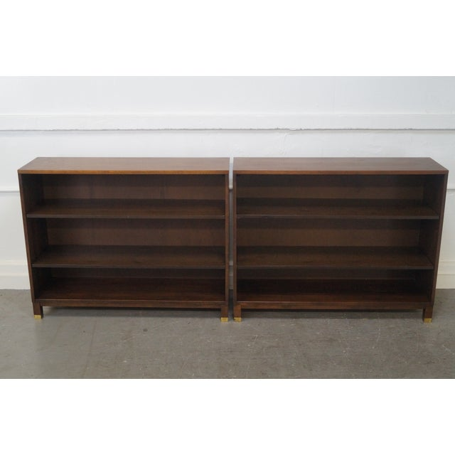 Mid-Century Modern Walnut Low Bookcases - Pair - Image 2 of 10