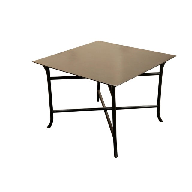 Wood 1970s Mid Century Modern Widdicomb Coffee Table With Skinny Legs Crossing For Sale - Image 7 of 7
