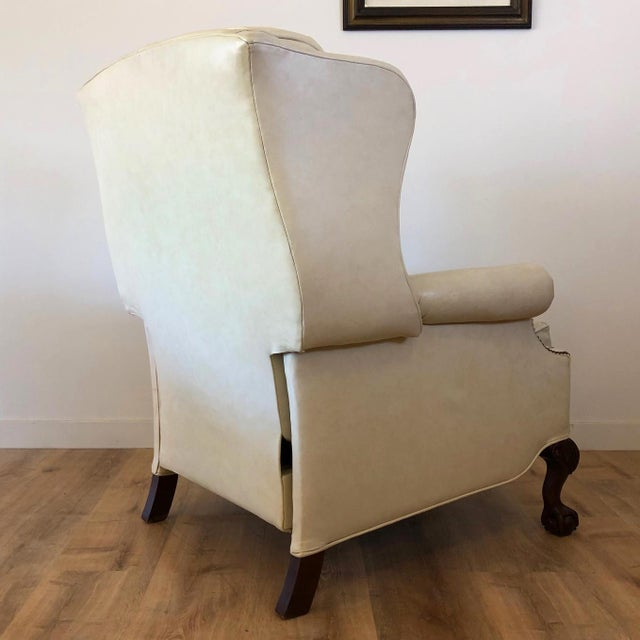 Vintage Bradington Young Leather Wingback Recliner For Sale - Image 10 of 13