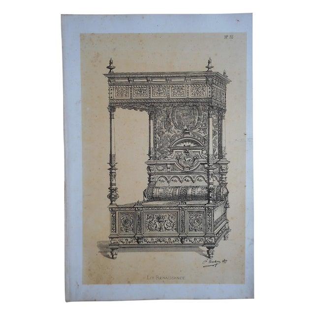 Antique Folio Size Furniture Lithograph - Image 1 of 3