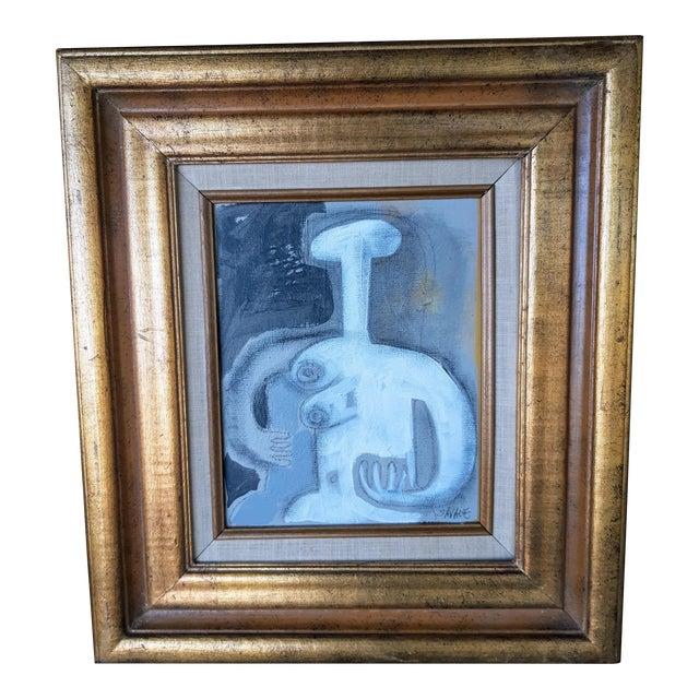 Vintage Framed Female Nude #3 Painting For Sale