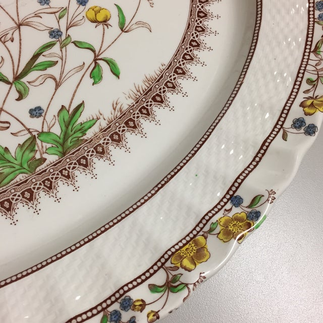 Spode Copeland Iconic Buttercup Large Oval Serving Platter For Sale In Greensboro - Image 6 of 8