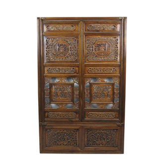 Vintage Chinese Hand Carved Window For Sale