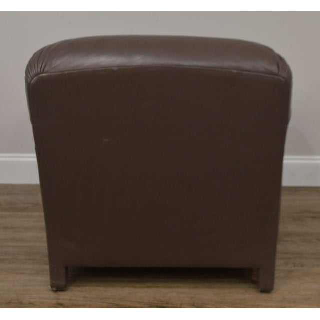 Leather Donghia Leather Lounge Chair With Ottoman For Sale - Image 7 of 13