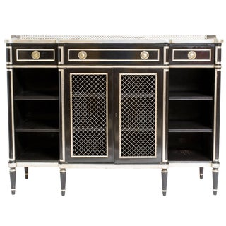 Lacquered 1940s Regency Style Credenza For Sale