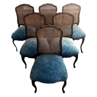 Late 19th Century Antique French Dining Chairs Louis XV - Set of 6 For Sale