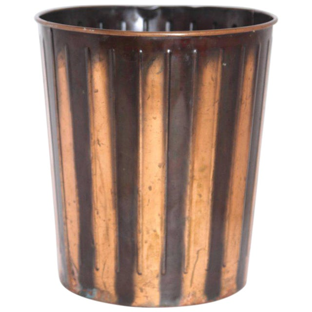Machine Age Art Deco Industrial Arts Waste Receptacle by Erie Art Metal For Sale