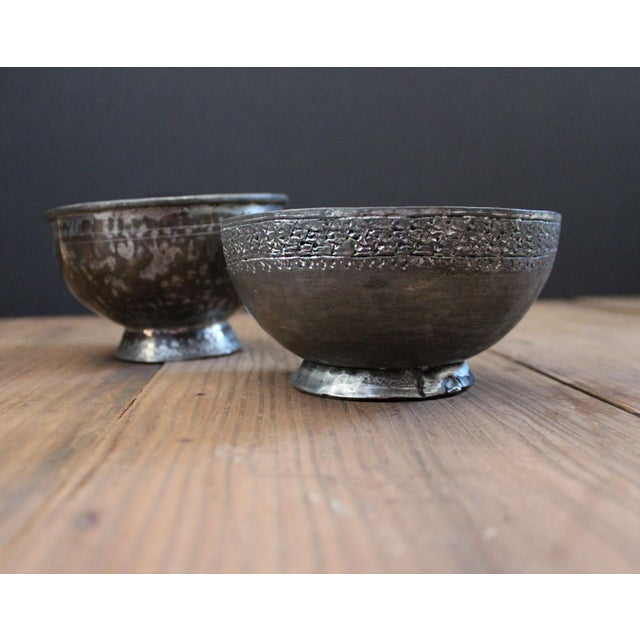 Silver Antique Ottoman-Era Copper Bowls-a Pair For Sale - Image 8 of 8