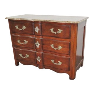 Hickory Chair Co. Louis XV Style Marbletop Chest For Sale