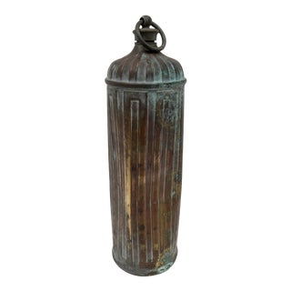 Late 1800s French Copper Bed Warmer/Ice Water Server