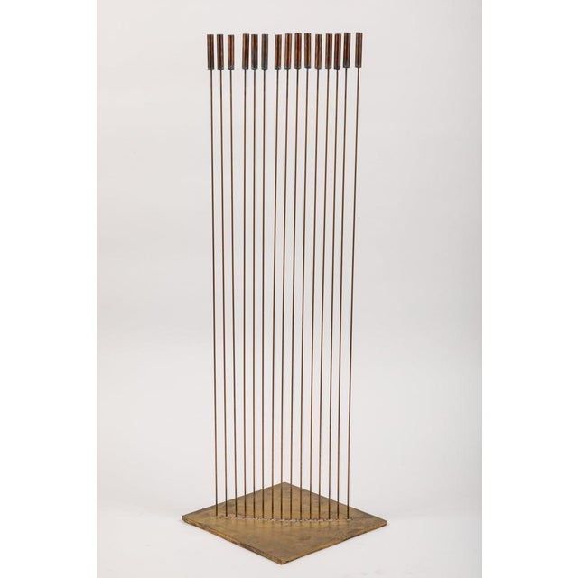 "Harry Bertoia Large Val Bertoia 15-Rod ""Curve of Sounding Cat Tails"" Sculpture, 2016 For Sale - Image 4 of 13"