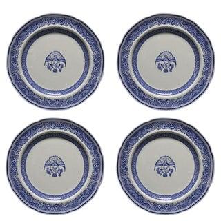 Spode Blue Heritage Dinner Plates - Set of 4 For Sale