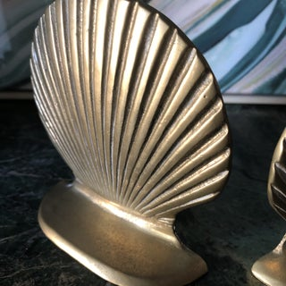 Brass Shell Bookends - a Pair Preview