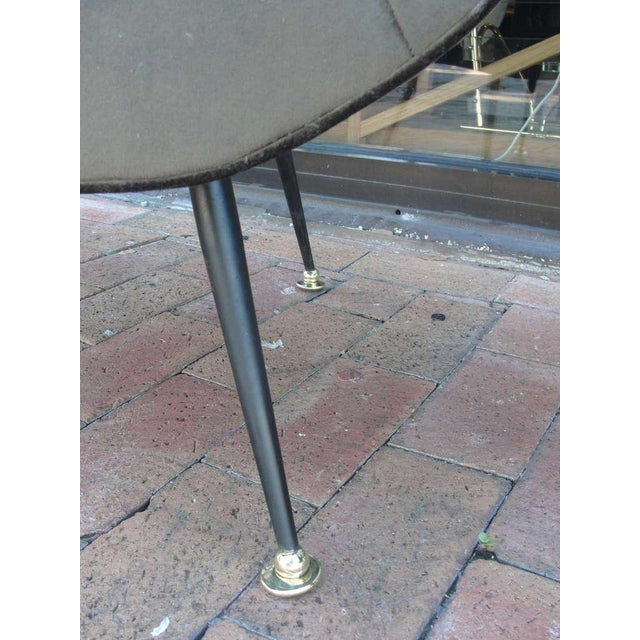 Brass Pair of Italian Open-Arm Chairs For Sale - Image 7 of 7