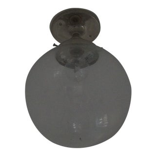 Clear Glass Globe Ceiling Light For Sale