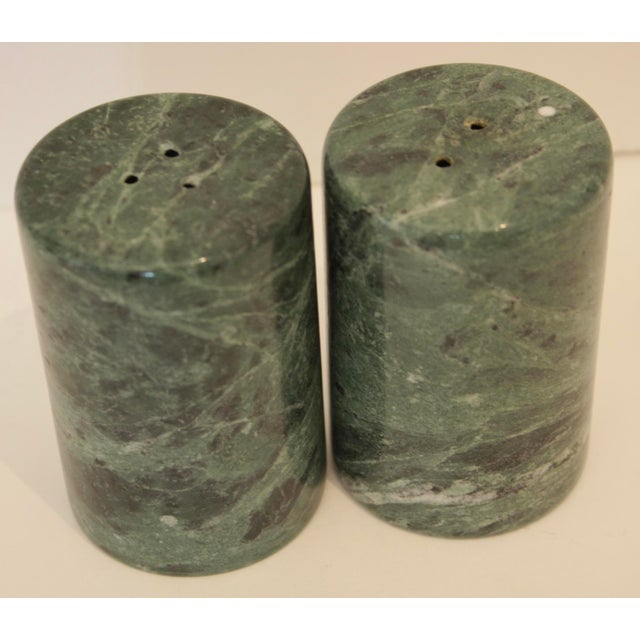 Modernist Sculptural Marble Salt & Pepper Shakers - A Pair For Sale - Image 4 of 6