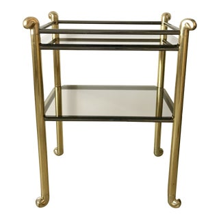 Brass Bar With Smoked Glass Dry Bar