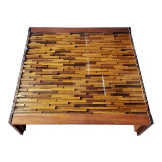 1960s Mid-Century Modern Percival Lafer Coffee Table For Sale