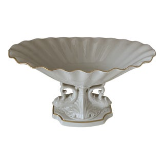 1980s Lenox Aquarius Centerpiece Pedestal Bowl For Sale