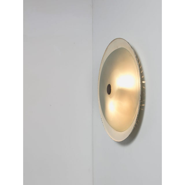 Mid-Century Modern Rare Wall / Ceiling Lamp Attributed to Fontana Arte For Sale - Image 3 of 6