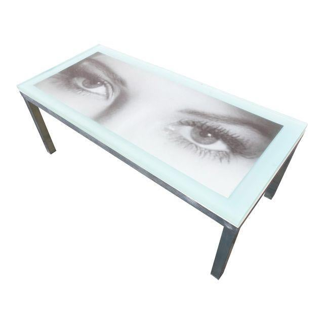 """Modern """"Eye of the Beholder"""" Coffee Table For Sale - Image 3 of 7"""