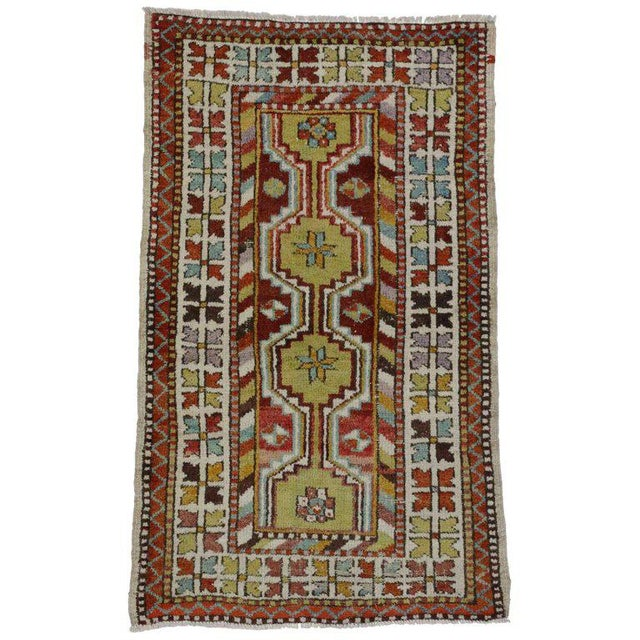 Late 20th Century 1970s Turkish Oushak Rug - 2′8″ × 4′6″ For Sale - Image 5 of 5