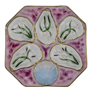 1960s Fuchsia Pink Oyster Plate For Sale