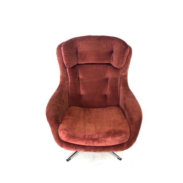 Mid-Century Modern Mid Century Modern Overman Egg Chair For Sale - Image 3 of 8