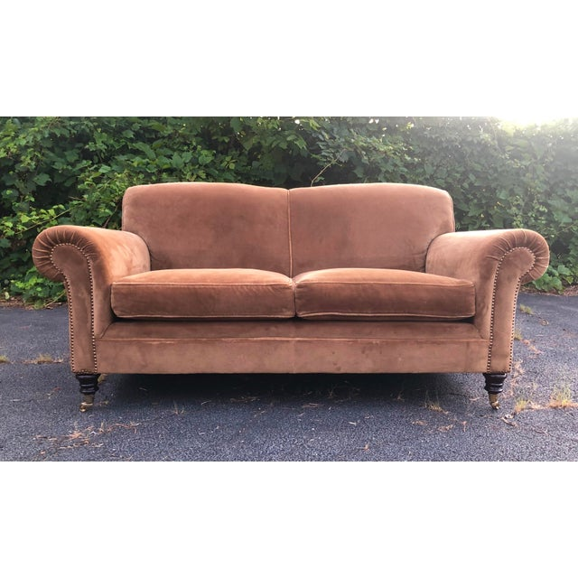 Brown George Smith Mohair Elverdon Sofa For Sale - Image 8 of 8