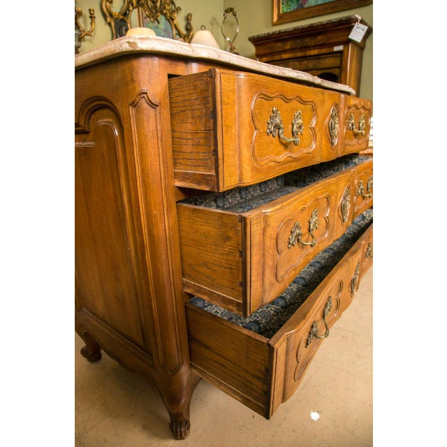 Bronze Marble-Top Louis XV Style Commodes - A Pair For Sale - Image 7 of 10