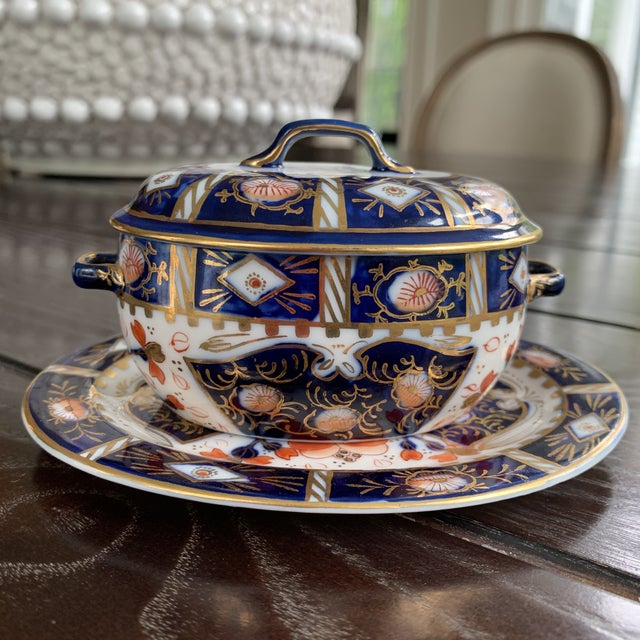 Vintage Japanese Imari Hokutosha Trinket Tureen With Tray For Sale - Image 10 of 12