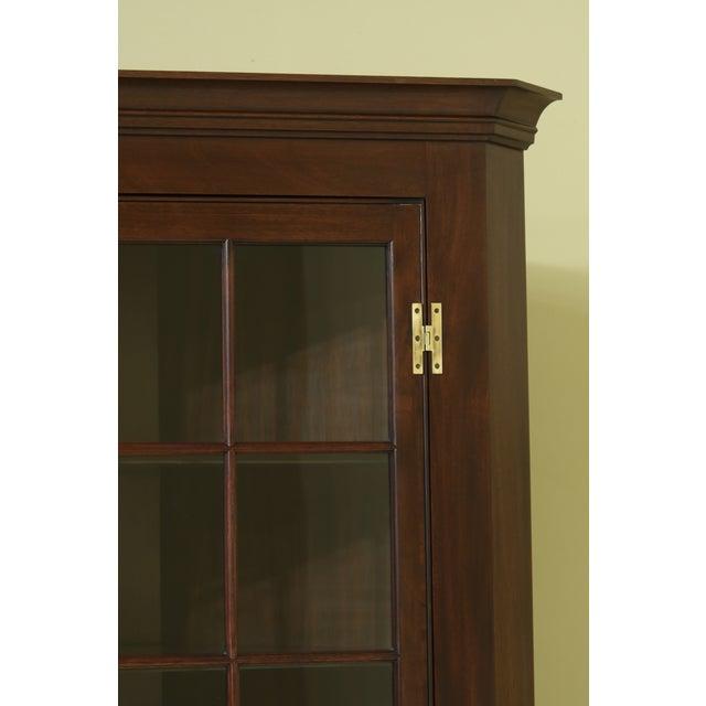 Traditional Henkel Harris Model 1114 Mahogany Large Corner Cabinet For Sale - Image 3 of 12