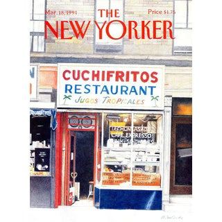 1991 New Yorker Cover, March 18 (Ann McCarthy), Restaurants, City Life For Sale