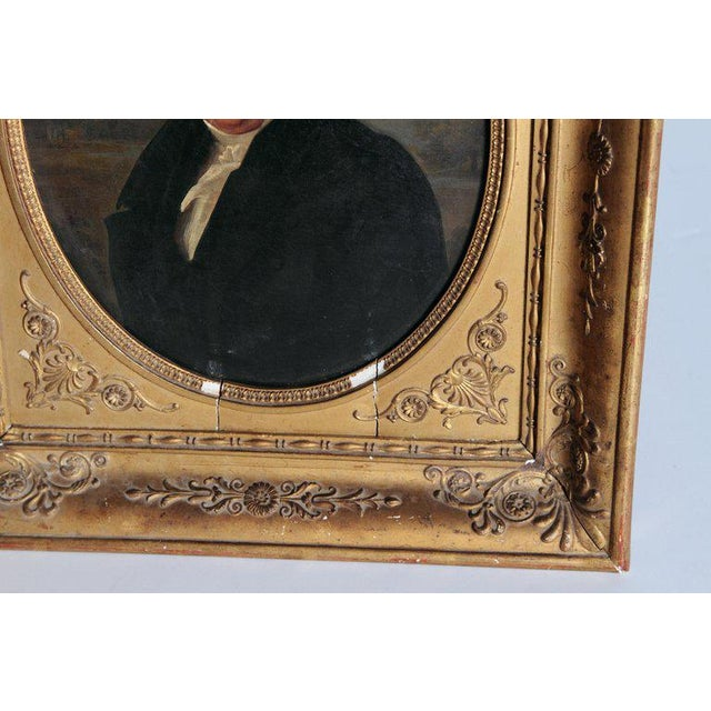 Neoclassical Early 19th Century French Oil on Canvas of a Man Dressed in Black For Sale - Image 3 of 13