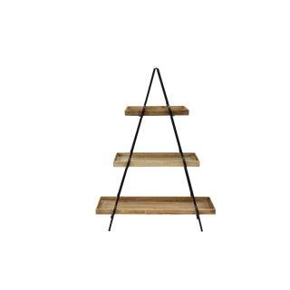 Contemporary 3 Layer Pyramid Shelf For Sale