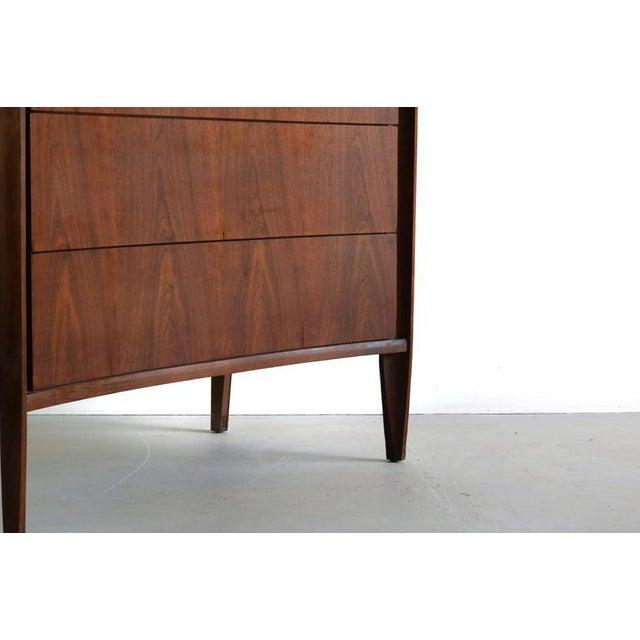 Edmond Spence Tall Dresser in Walnut, Sweden For Sale - Image 10 of 11