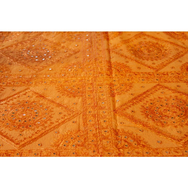Tangerine Sheesha Coverlet For Sale - Image 4 of 8