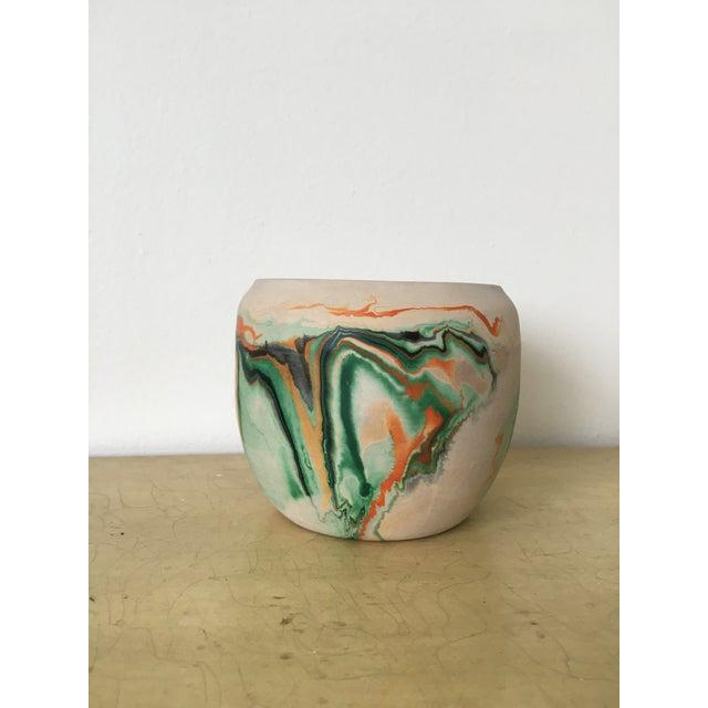 Vintage Nemadji Green Pottery Vase - Image 9 of 9