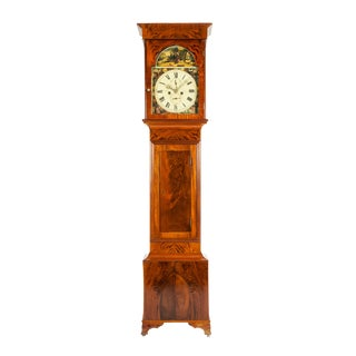 19th Century Mahogany Wood Long Case Clock For Sale
