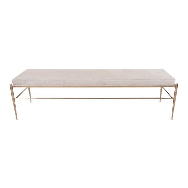 Italian Upholstered Rectangular Bench For Sale