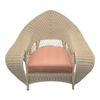 Lane Venture Vintage Rattan Lounge Chair For Sale