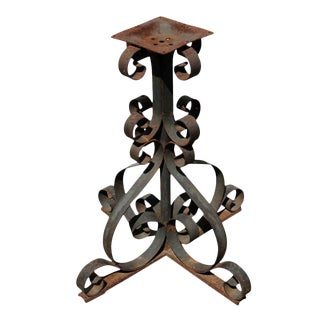 20th Century Traditional Curly Wrought Iron Table Base For Sale