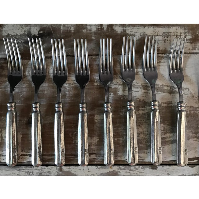 Williams Sonoma Alton Pewter Flatware - Set of 5 For Sale - Image 9 of 11