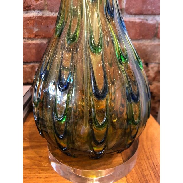 Mid-Century Modern Italian Mid-Century Murano Lamp For Sale - Image 3 of 8